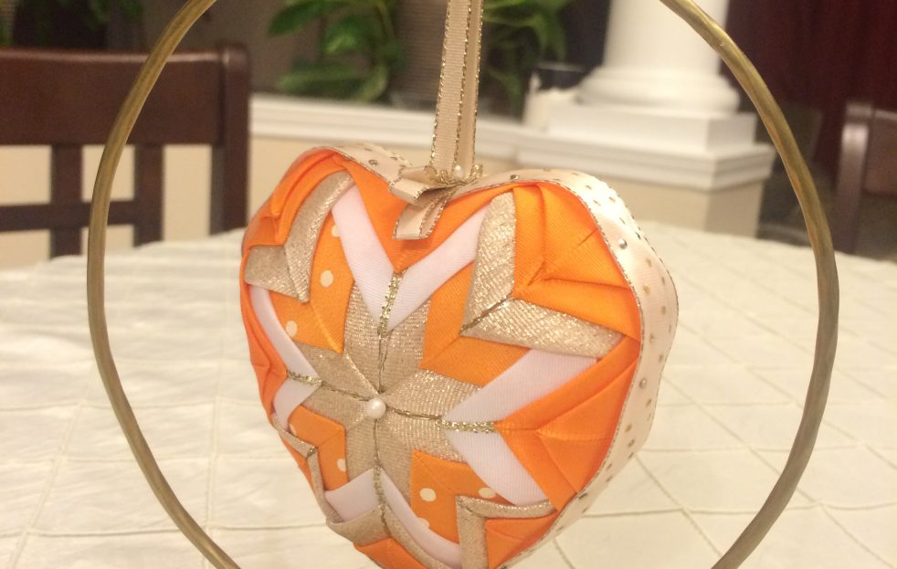 Orange Heart Ornament