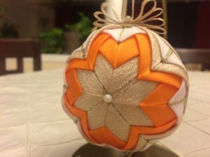 Orange Ball Ornament - Closeup