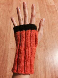Orange Armwarmers - Finished!