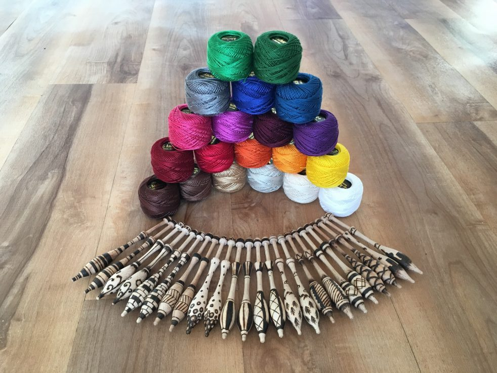 Rainbow Thread and Bobbins