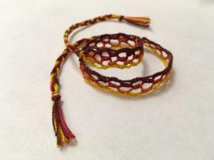 Bobbin Lace – Bracelet Finished