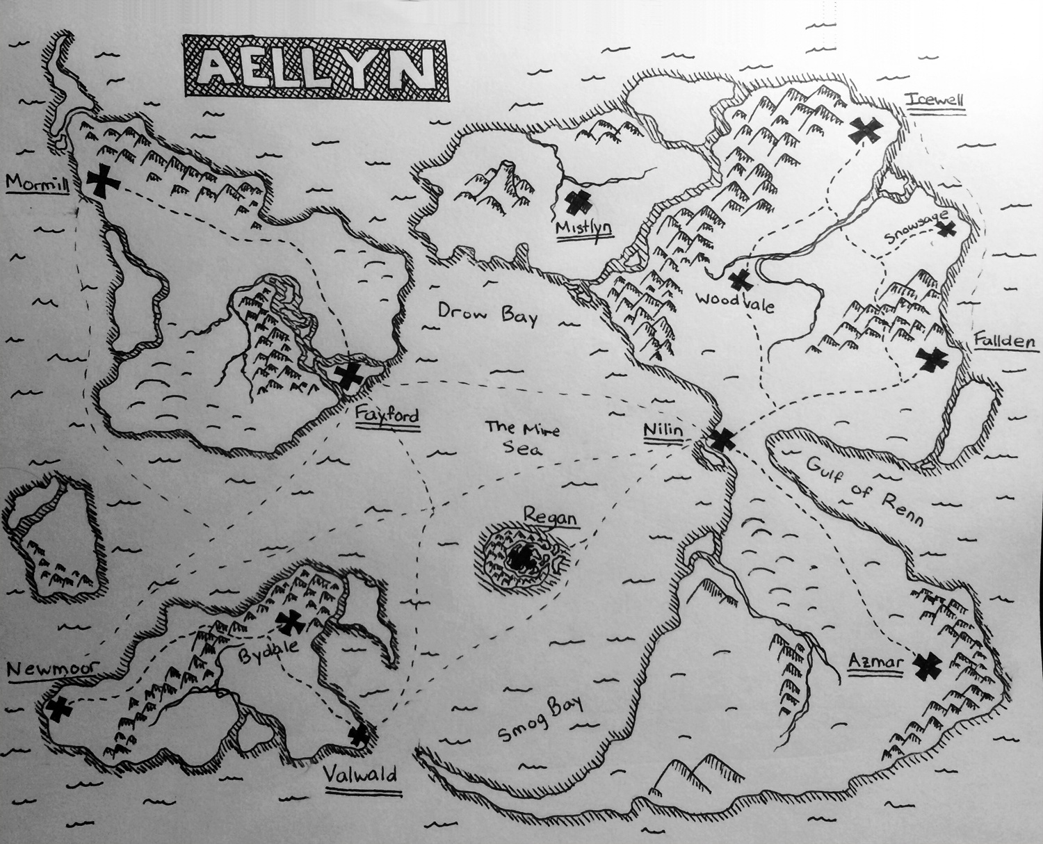 Map of Aellyn
